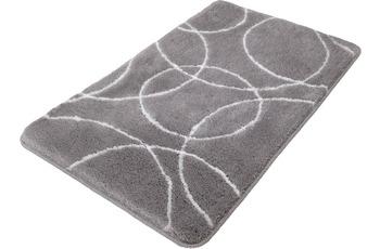 Kleine Wolke Badteppich Ramona, Silbergrau 60 x 100 cm