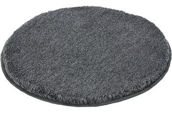 Kleine Wolke Badteppich Relax Anthrazit rutschhemmender Rücken Öko-Tex zertifiziert Wunschmaß rund/ oval