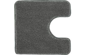 Kleine Wolke Badteppich Relax Anthrazit 55 cm x 55 cm WC-Vorleger mit Ausschnitt