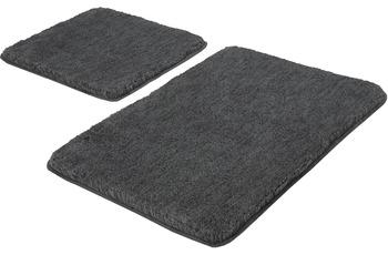 Kleine Wolke Badteppich Relax, Anthrazit Set 2-teilig, Jubiläums-Angebot, Set 2-teilig (50 x 50 cm und 55 x 85 cm)