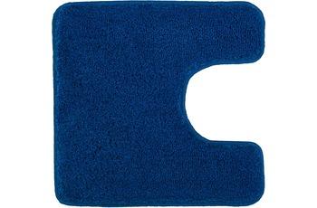 Kleine Wolke Badteppich Relax Atlantikblau 55 cm x 55 cm WC-Vorleger mit Ausschnitt