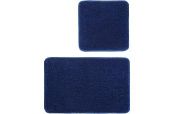 Kleine Wolke Badteppich Relax, Atlantikblau Set 2-teilig, Jubiläums-Angebot