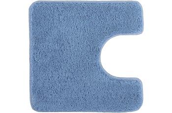 Kleine Wolke Badteppich Relax Azur 55 cm x 55 cm WC-Vorleger mit Ausschnitt