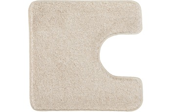 Kleine Wolke Badteppich Relax Bast 55 cm x 55 cm WC-Vorleger mit Ausschnitt