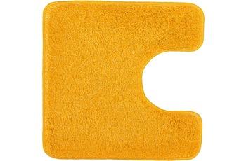 Kleine Wolke Badteppich Relax Goldgelb 55 cm x 55 cm WC-Vorleger mit Ausschnitt