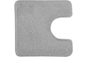 Kleine Wolke Badteppich Relax Grau 55 cm x 55 cm WC-Vorleger mit Ausschnitt