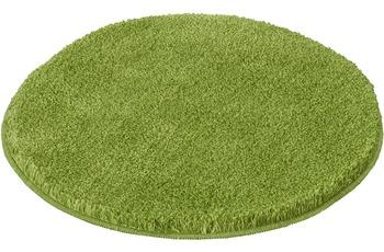Kleine Wolke Badteppich Relax Kiwigrün rutschhemmender Rücken Öko-Tex zertifiziert Wunschmaß rund/ oval