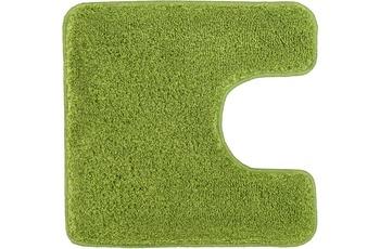 Kleine Wolke Badteppich Relax Kiwigrün 55 cm x 55 cm WC-Vorleger mit Ausschnitt