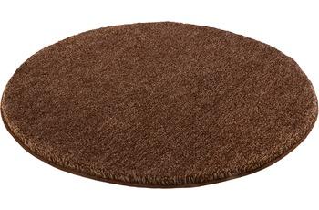 Kleine Wolke Badteppich Relax, Mahagoni 100 cm rund