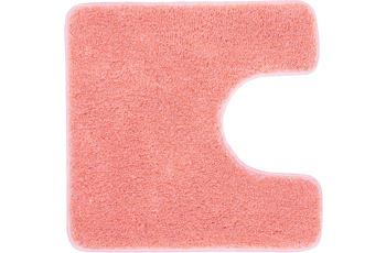 Kleine Wolke Badteppich Relax Pastellrose 55 cm x 55 cm WC-Vorleger mit Ausschnitt