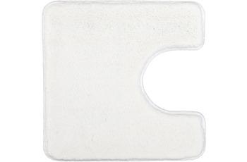 Kleine Wolke Badteppich Relax Polarweiss 55 cm x 55 cm WC-Vorleger mit Ausschnitt