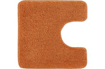 Kleine Wolke Badteppich Relax Rost 55 cm x 55 cm WC-Vorleger mit Ausschnitt
