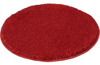 Kleine Wolke Badteppich Relax Rubin rutschhemmender Rücken Öko-Tex zertifiziert Wunschmaß rund/ oval