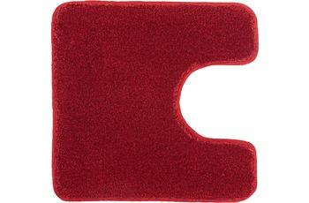 Kleine Wolke Badteppich Relax Rubin 55 cm x 55 cm WC-Vorleger mit Ausschnitt