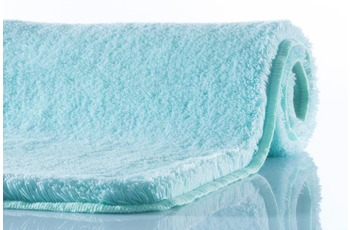 Kleine Wolke Badteppich Relax Salbeigrün WC-Vorleger 55x 55 cm mit Ausschnitt