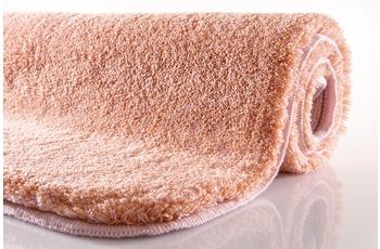 Kleine Wolke Badteppich Relax, Salmon, rutschhemmender Rücken, Öko-Tex zertifiziert