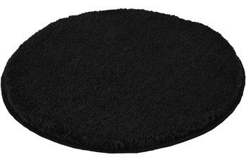 Kleine Wolke Badteppich Relax Schwarz 60 cm rund