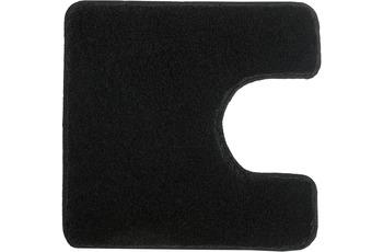 Kleine Wolke Badteppich Relax Schwarz 55 cm x 55 cm WC-Vorleger mit Ausschnitt