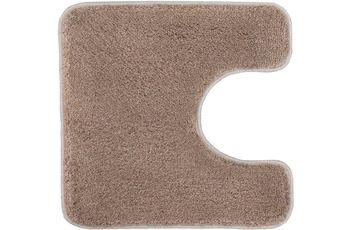 Kleine Wolke Badteppich Relax Taupe 55 cm x 55 cm WC-Vorleger mit Ausschnitt
