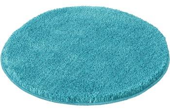 Kleine Wolke Badteppich Relax Türkis rutschhemmender Rücken Öko-Tex zertifiziert Wunschmaß rund/ oval