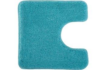 Kleine Wolke Badteppich Relax Türkis 55 cm x 55 cm WC-Vorleger mit Ausschnitt