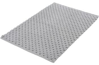 Kleine Wolke Badteppich Santiago Silbergrau 65x115 cm