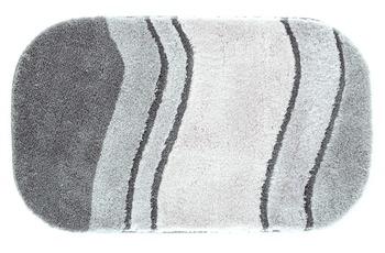 Kleine Wolke Badteppich Siesta Anthrazit 60 cm x 100 cm oval
