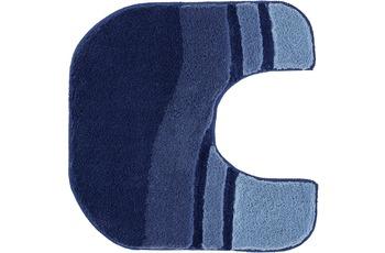 Kleine Wolke Badteppich Siesta Sor.-Azurblau 55 cm x 55 cm WC-Vorleger mit Ausschnitt