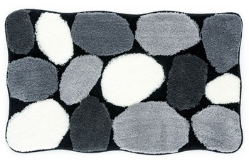 Kleine Wolke Badteppich Stone Schwarz 55 cm x 65 cm