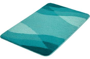Kleine Wolke Badteppich Suri Petrol 55x 50 cm WC-Vorleger mit Ausschnitt