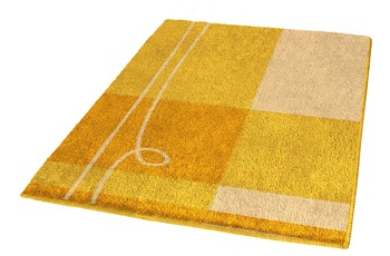 Kleine Wolke Badteppich, Tivoli, Canari 50 x 50 cm WC-Vorleger mit Ausschnitt