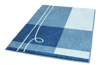 Kleine Wolke Badteppich Tivoli Himmelblau 50 cm x 50 cm WC-Vorleger mit Ausschnitt