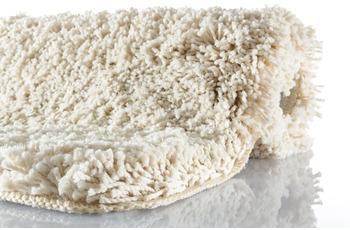 Kleine Wolke Badteppich Trend Champagner 55 cm x 55 cm WC-Vorleger mit Ausschnitt