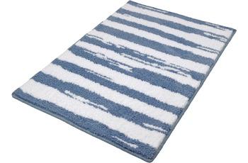 Kleine Wolke Badteppich Tunis Stahlblau 60 cm x 90 cm