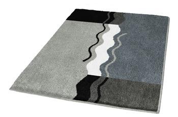 Kleine Wolke Badteppich Vanessa Platin 55 cm x 55 cm WC-Vorleger mit Ausschnitt