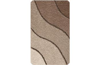 Kleine Wolke Badteppich Wave Kaschmir 55x55 cm WC-Vorleger mit Ausschnitt