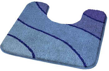 Kleine Wolke Badteppich Wave Marineblau 55 cm x 65 cm