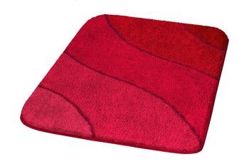 Kleine Wolke Badteppich, Wave, Rubin 55 x 55 cm WC-Vorleger mit Ausschnitt