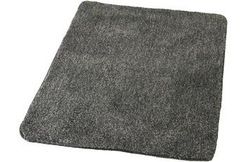 Kleine Wolke Badteppich Wilna, Schiefer 55x 55 cm WC-Vorleger mit Ausschnitt