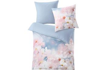 Kleine Wolke Bettwäsche Sakura blau