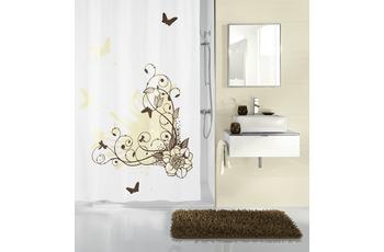 Kleine Wolke Duschvorhang Brown Flower, Toffee 180 x 200 cm (Breite x Höhe)