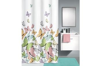 Kleine Wolke Duschvorhang Butterflies, Multicolor 180 x 200 cm