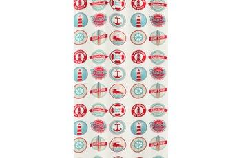 Kleine Wolke Duschvorhang Button, Multicolor