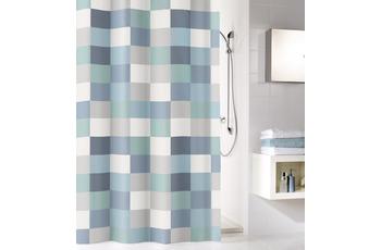 Kleine Wolke Duschvorhang Check Blau 180 x 200 cm (Breite x Höhe)