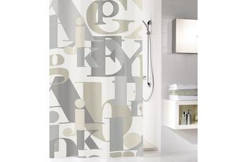 Kleine Wolke Duschvorhang Letter, Natur 180x200 cm