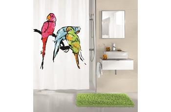 Kleine Wolke Duschvorhang Parrot, Multicolor 180x200 cm (Breite x Höhe)