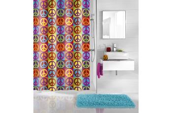 Kleine Wolke Duschvorhang Peace, Multicolor 180 x 200 cm