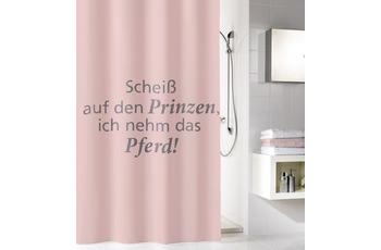 Kleine Wolke Duschvorhang Prinz, Pastellrose 180 x 200 cm