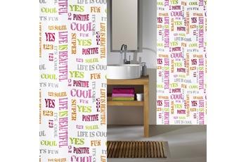 Kleine Wolke Duschvorhang Script Multicolor 180 x 200 cm (Breite x Höhe)