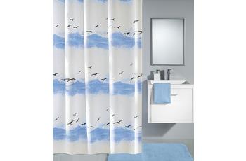 Kleine Wolke Duschvorhang Seaside, Krokusblau